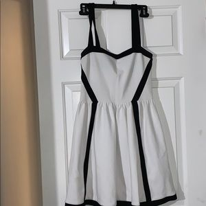 Juicy Couture white and black dress